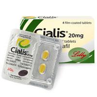 En la imagen se presenta el empaque, placa con tabletas Cialis genérico 20 mg